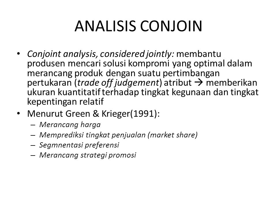 ANALISIS CONJOIN
