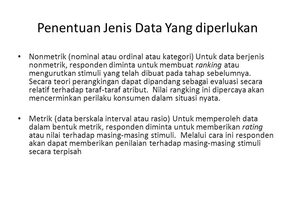 Penentuan Jenis Data Yang diperlukan