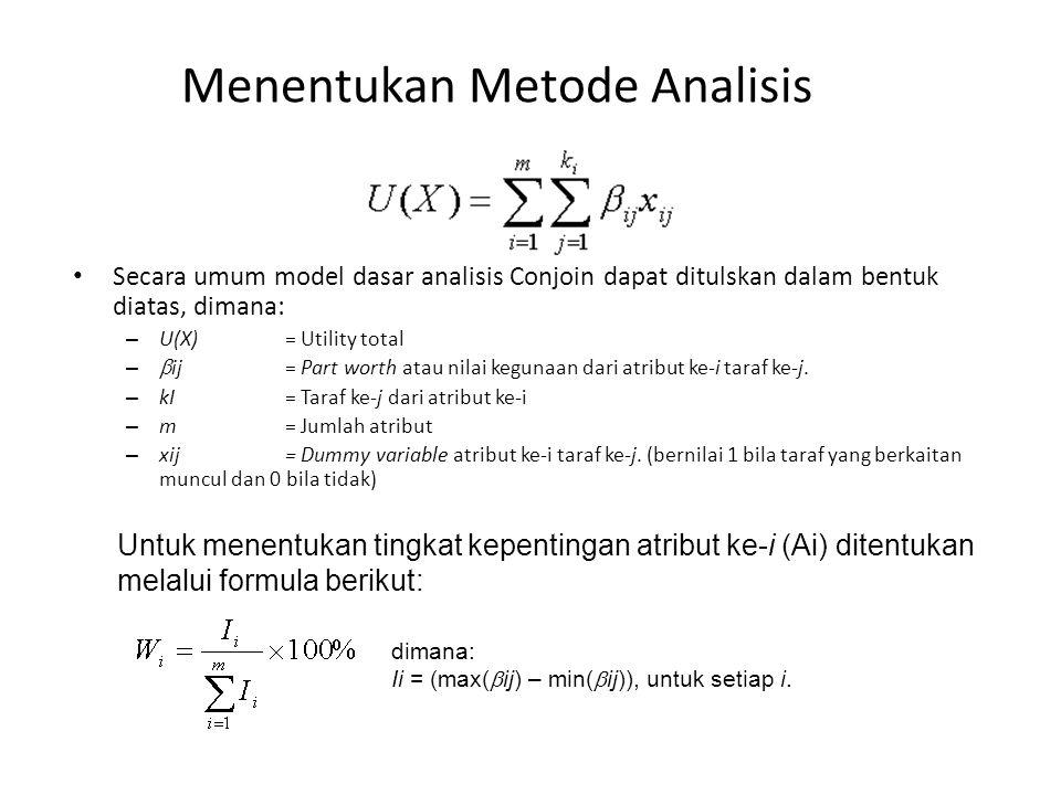 Menentukan Metode Analisis
