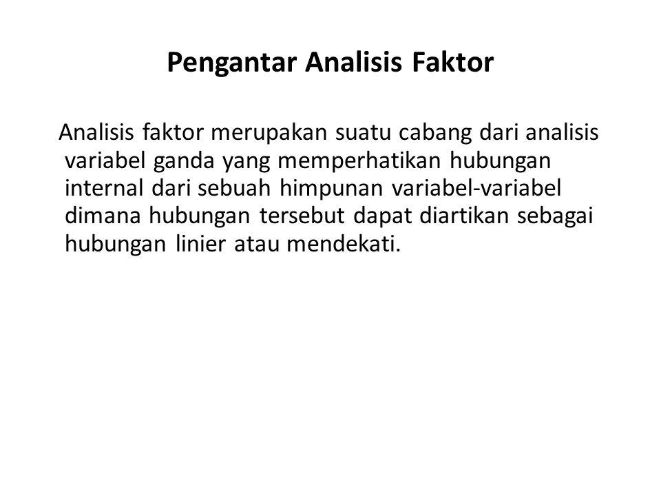 Pengantar Analisis Faktor