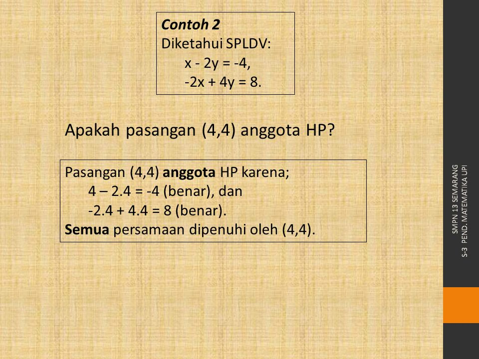 Apakah pasangan (4,4) anggota HP