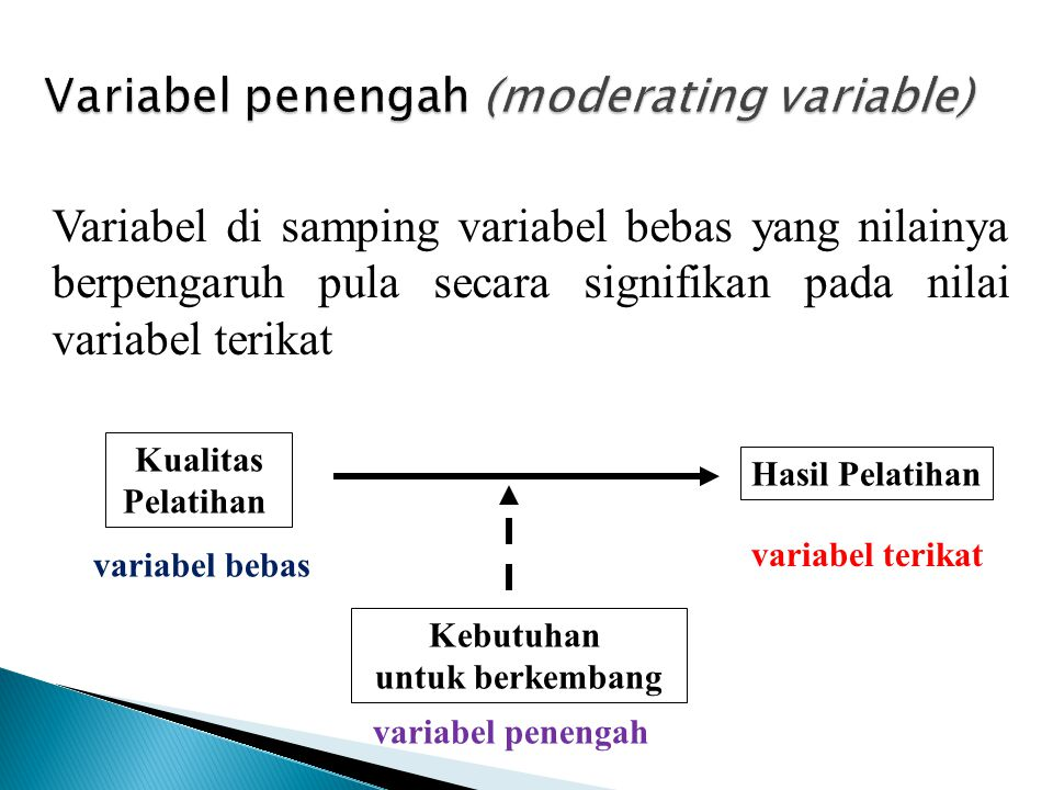 Variabel penengah (moderating variable)