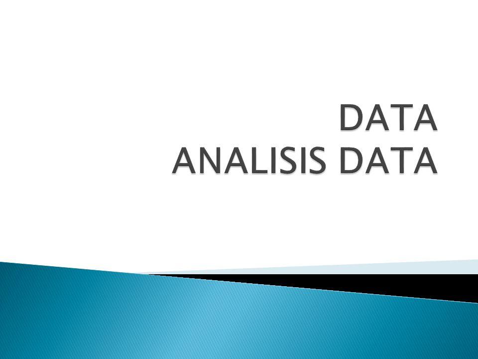 DATA ANALISIS DATA