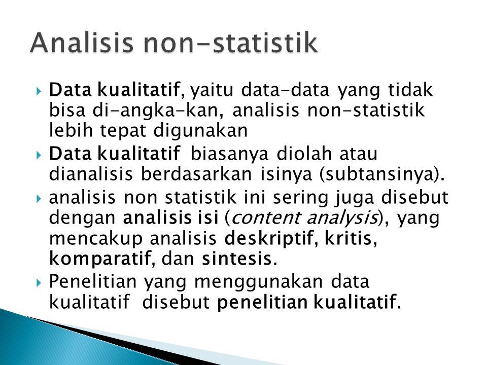 Analisis non-statistik