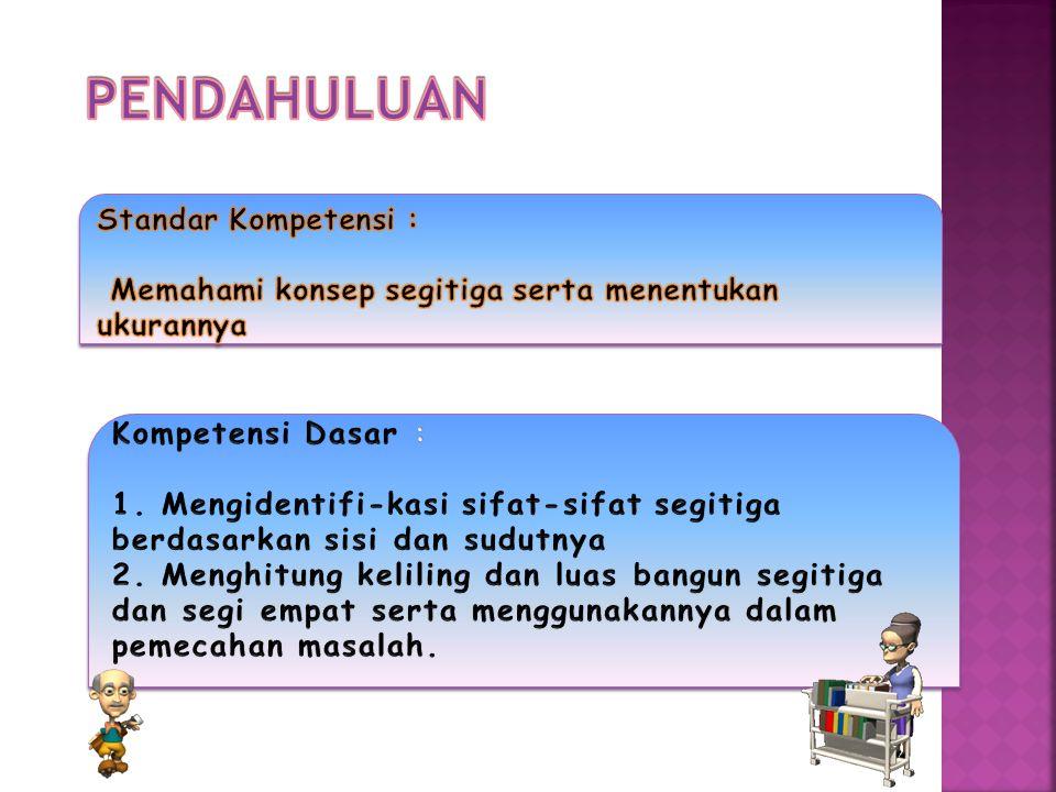 PENDAHULUAN Standar Kompetensi :
