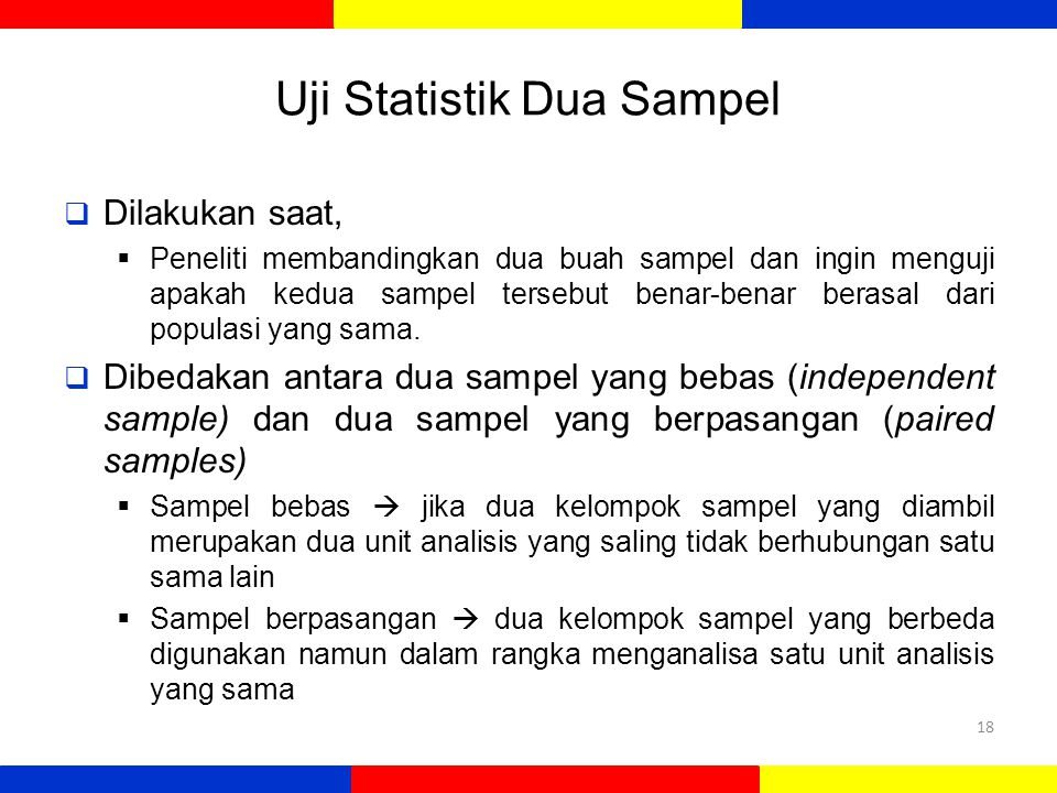 Uji Statistik Dua Sampel