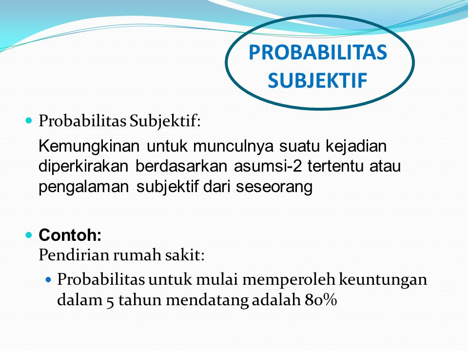 PROBABILITAS SUBJEKTIF