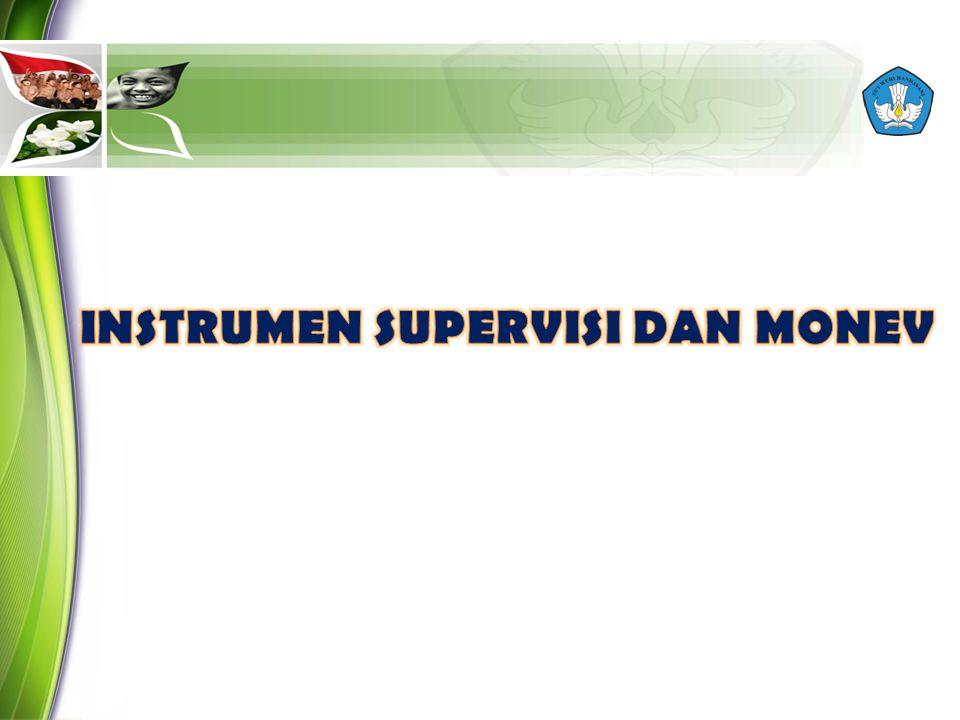 INSTRUMEN SUPERVISI DAN MONEV