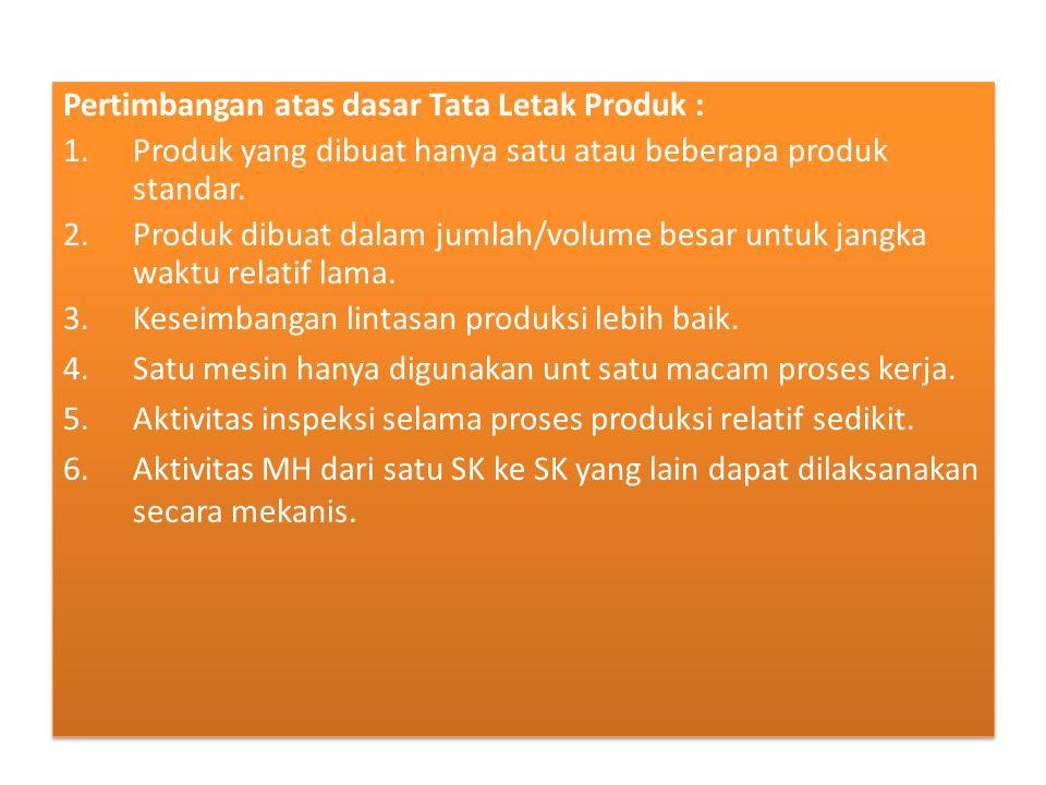 Pertimbangan atas dasar Tata Letak Produk :