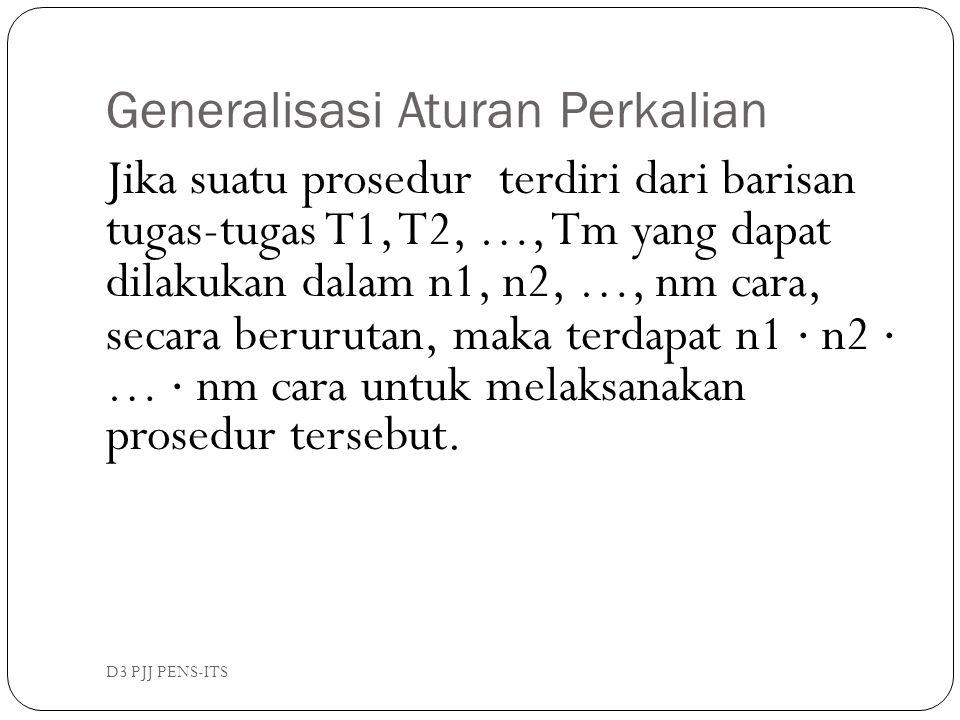 Generalisasi Aturan Perkalian