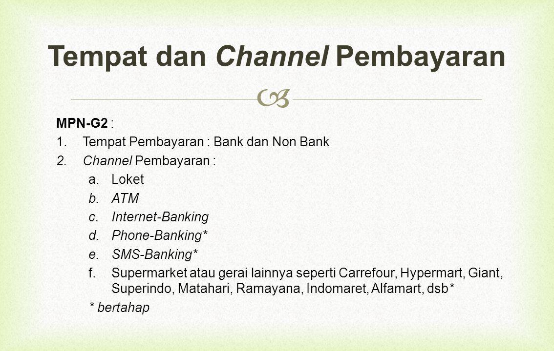 Tempat dan Channel Pembayaran