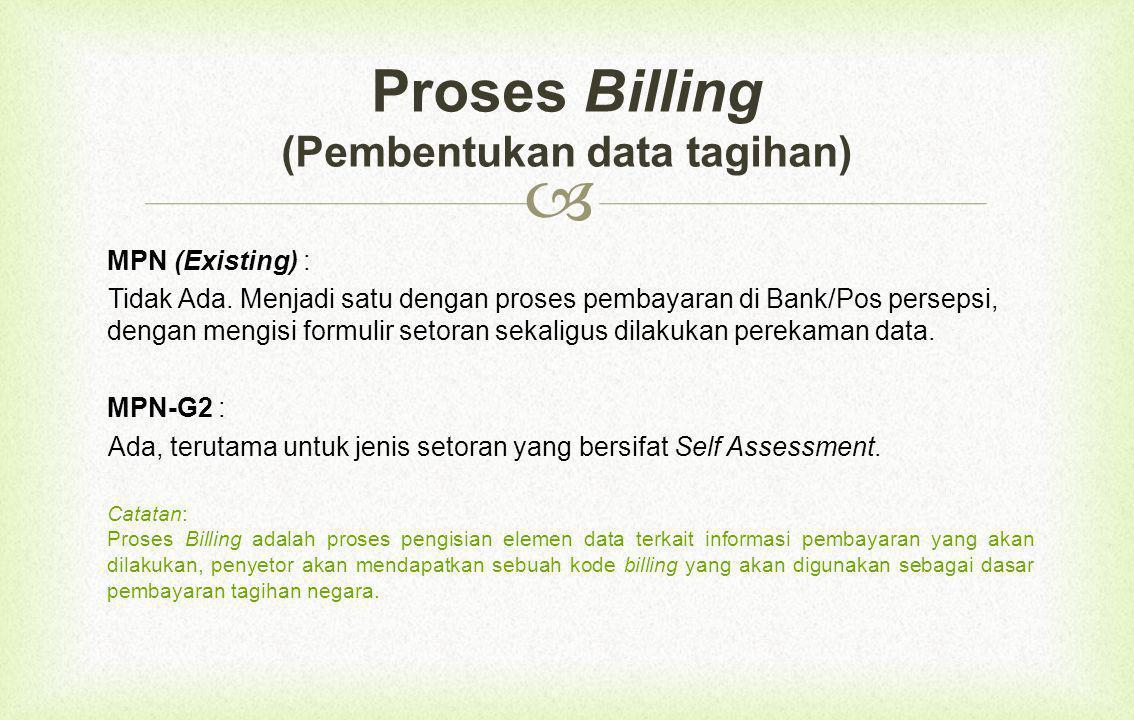 Proses Billing (Pembentukan data tagihan)