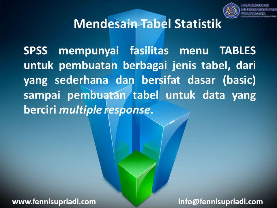 Mendesain Tabel Statistik