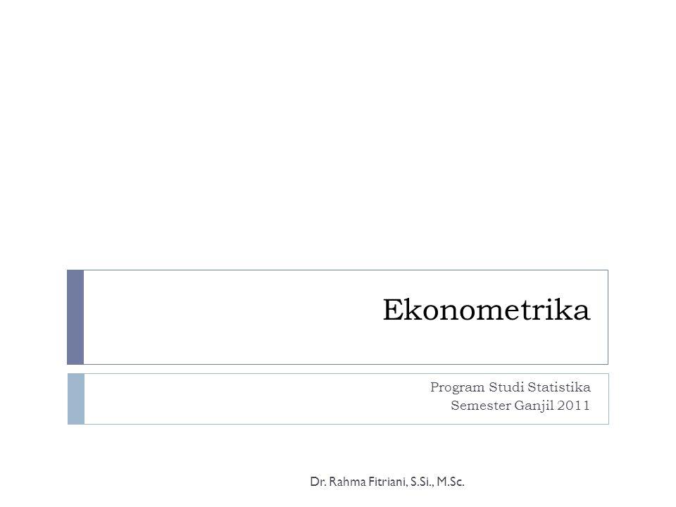 Program Studi Statistika Semester Ganjil 2011