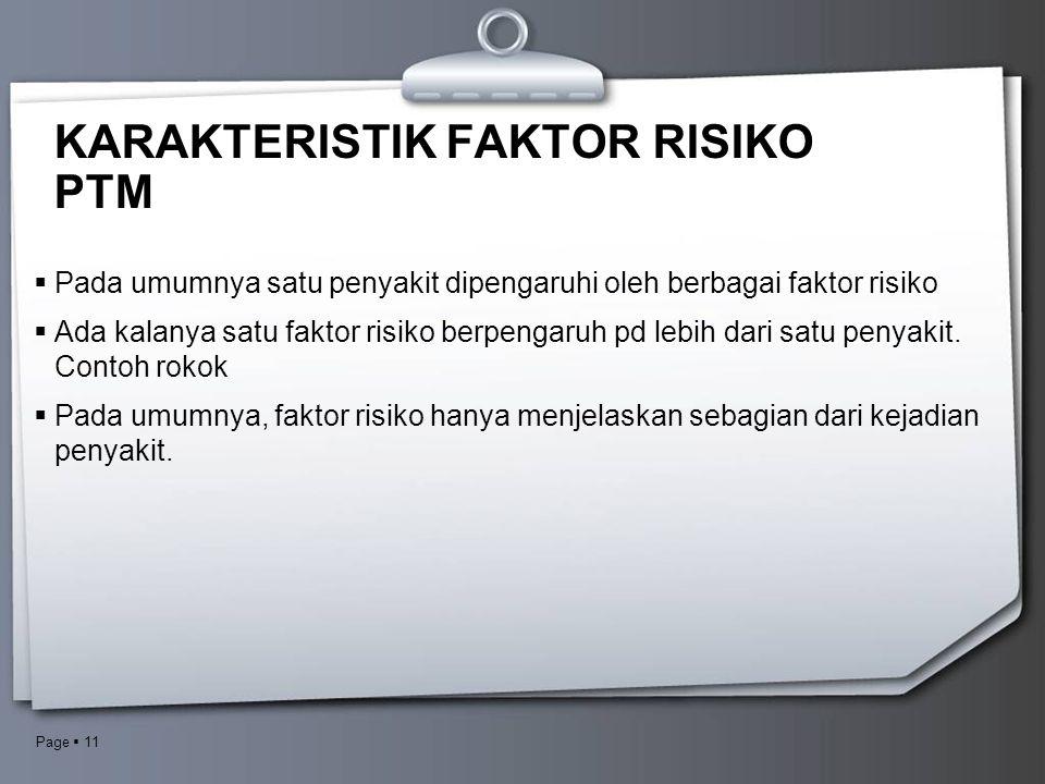 KARAKTERISTIK FAKTOR RISIKO PTM