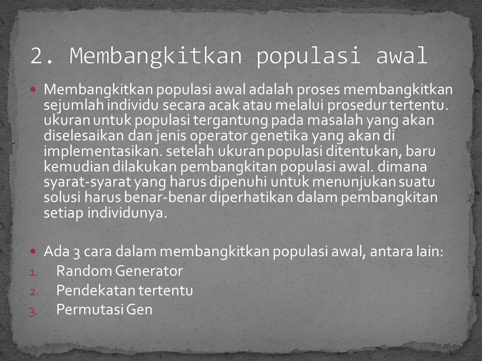 2. Membangkitkan populasi awal