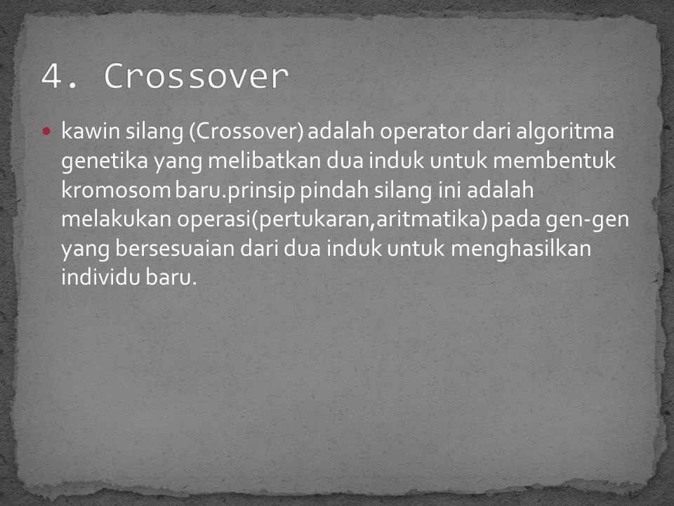 4. Crossover