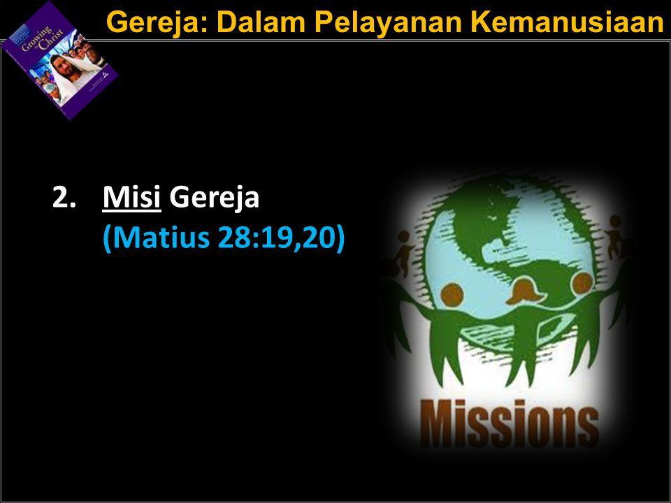 Gereja: Dalam Pelayanan Kemanusiaan