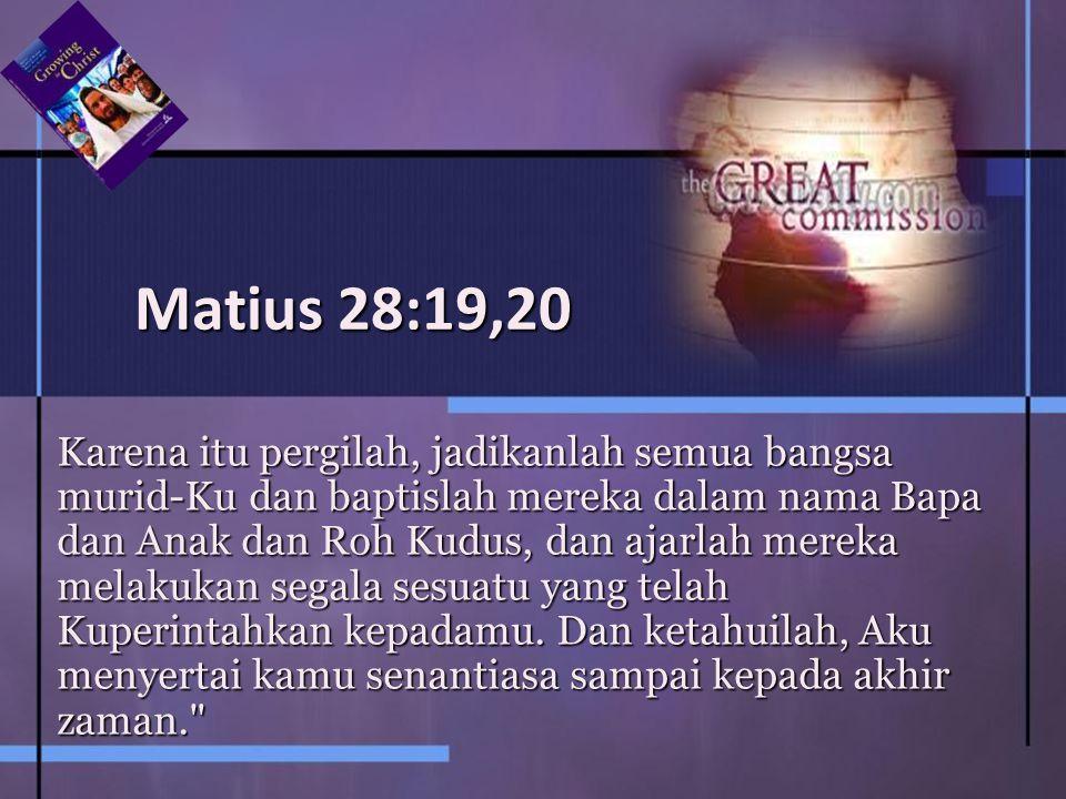 Matius 28:19,20