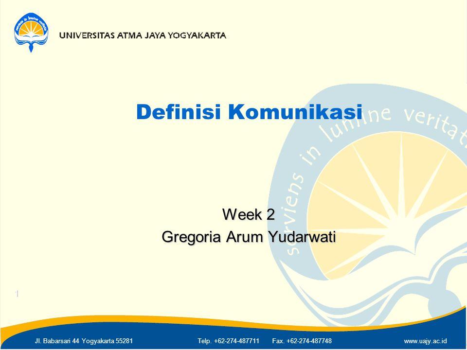 Week 2 Gregoria Arum Yudarwati