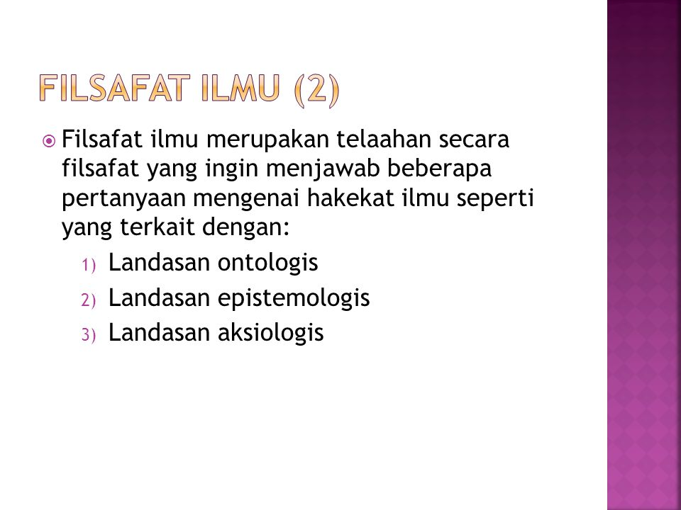 Filsafat ilmu (2)