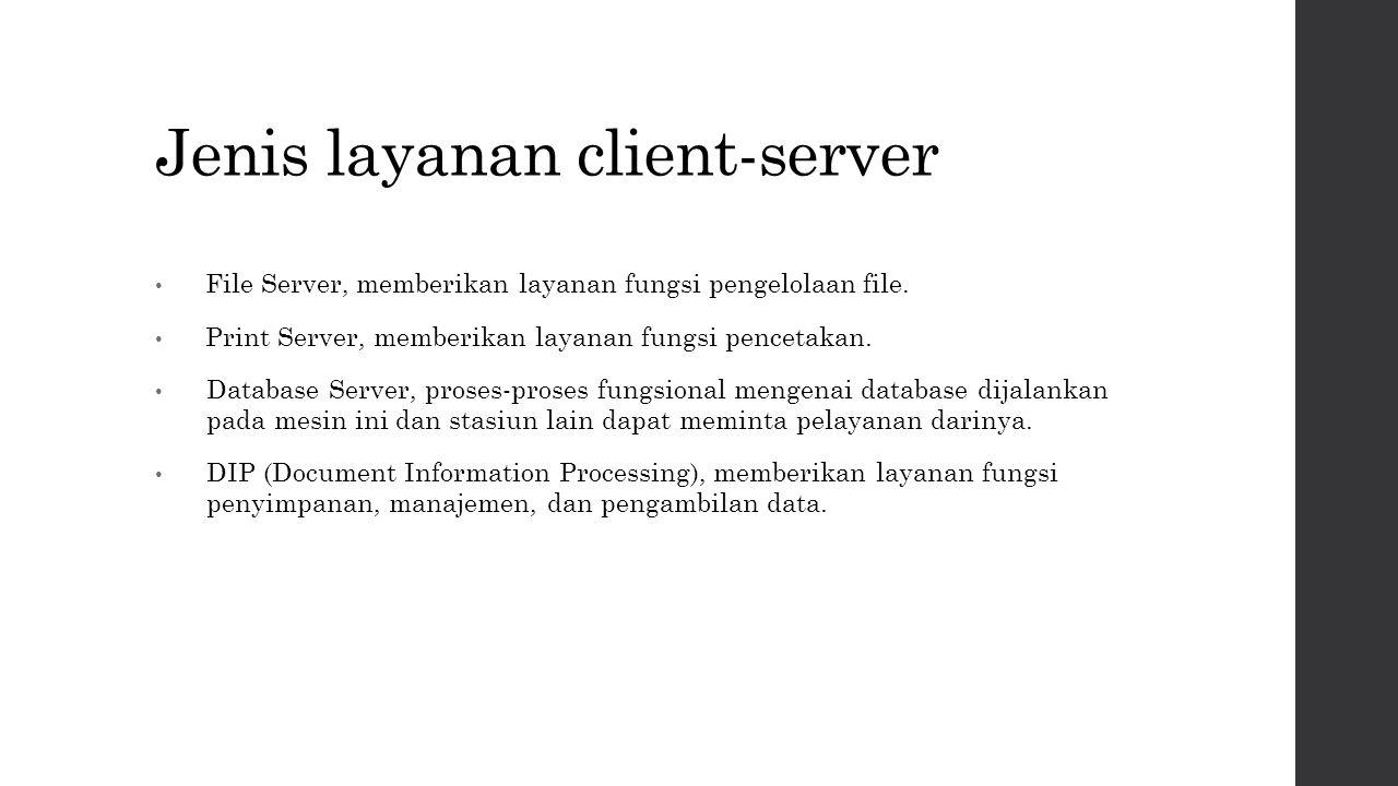 Jenis layanan client-server