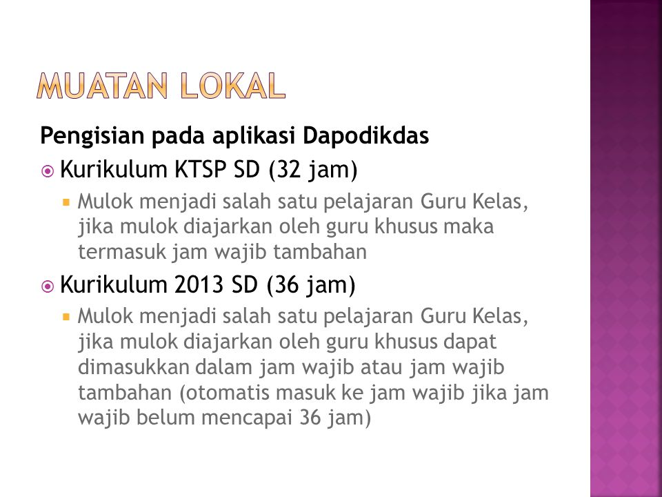 Muatan Lokal Pengisian pada aplikasi Dapodikdas