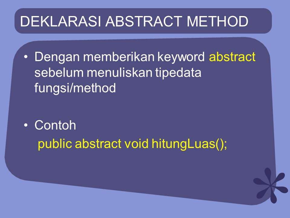 DEKLARASI ABSTRACT METHOD