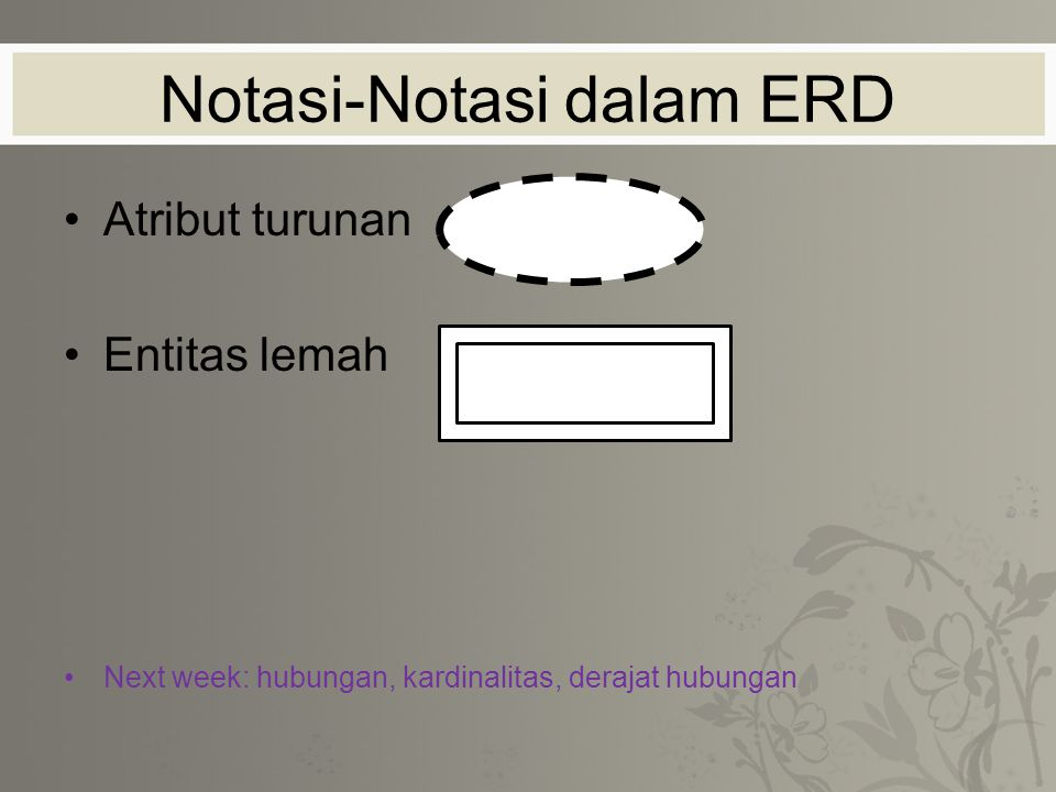 Notasi-Notasi dalam ERD