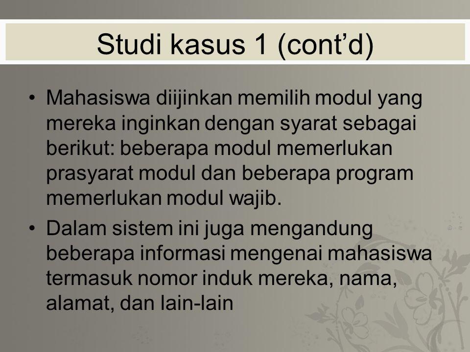 Studi kasus 1 (cont'd)