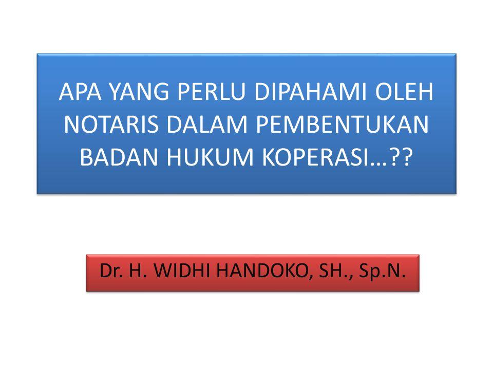 Dr. H. WIDHI HANDOKO, SH., Sp.N.