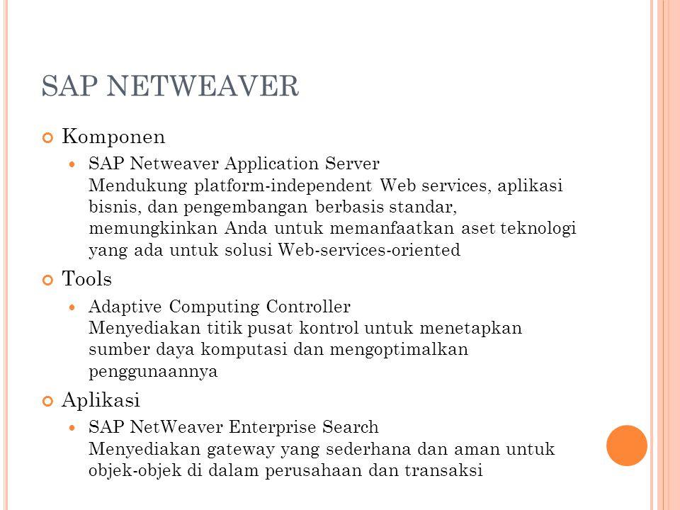 SAP NETWEAVER Komponen Tools Aplikasi