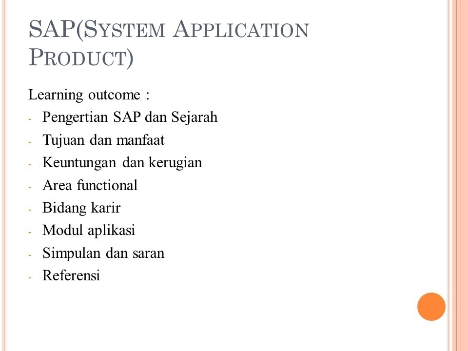 SAP(System Application Product)