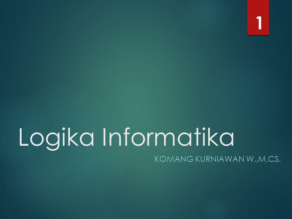 1 Logika Informatika Komang Kurniawan W.,M.Cs.