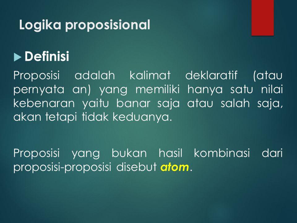 Logika proposisional Definisi