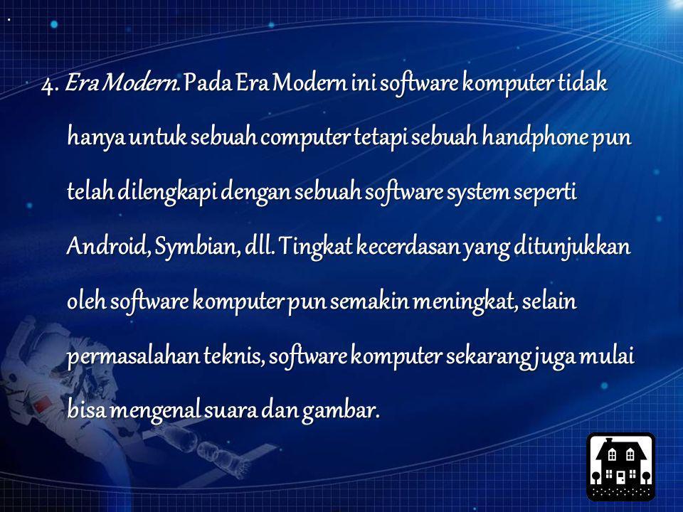 4. Era Modern.