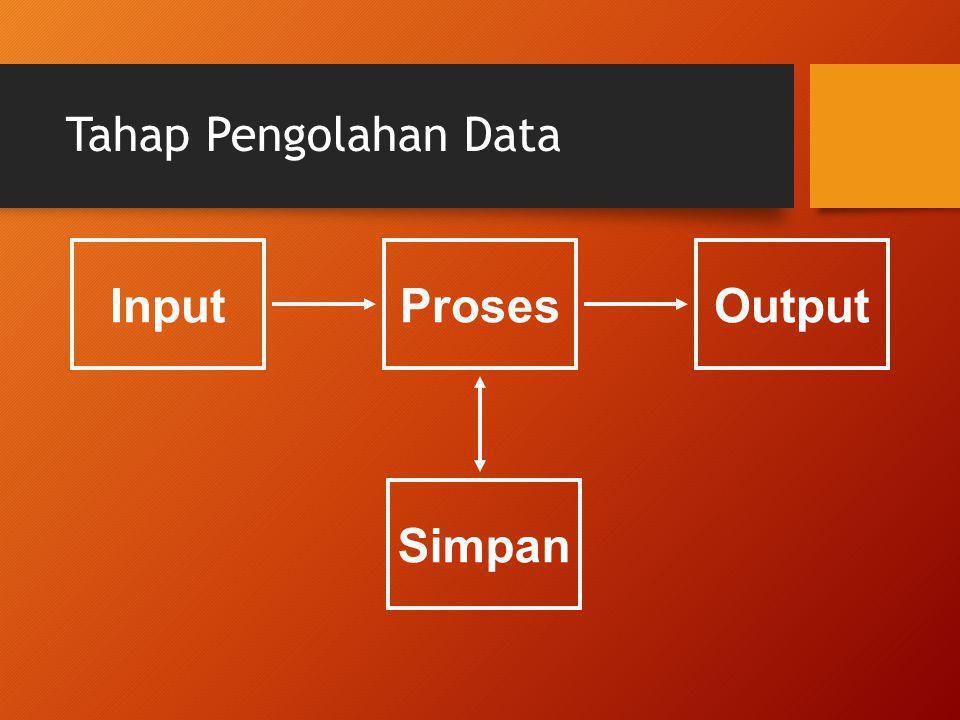 Tahap Pengolahan Data Input Proses Output Simpan