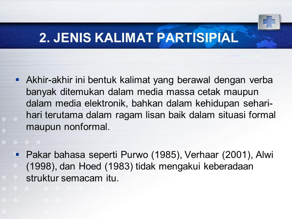 2. JENIS KALIMAT PARTISIPIAL