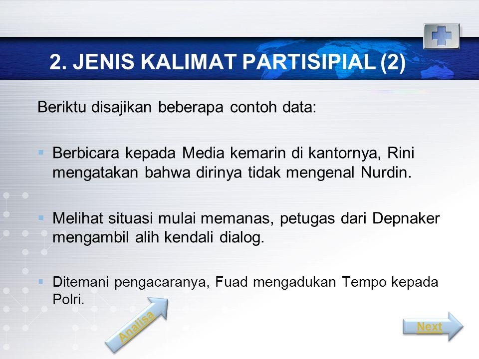 2. JENIS KALIMAT PARTISIPIAL (2)