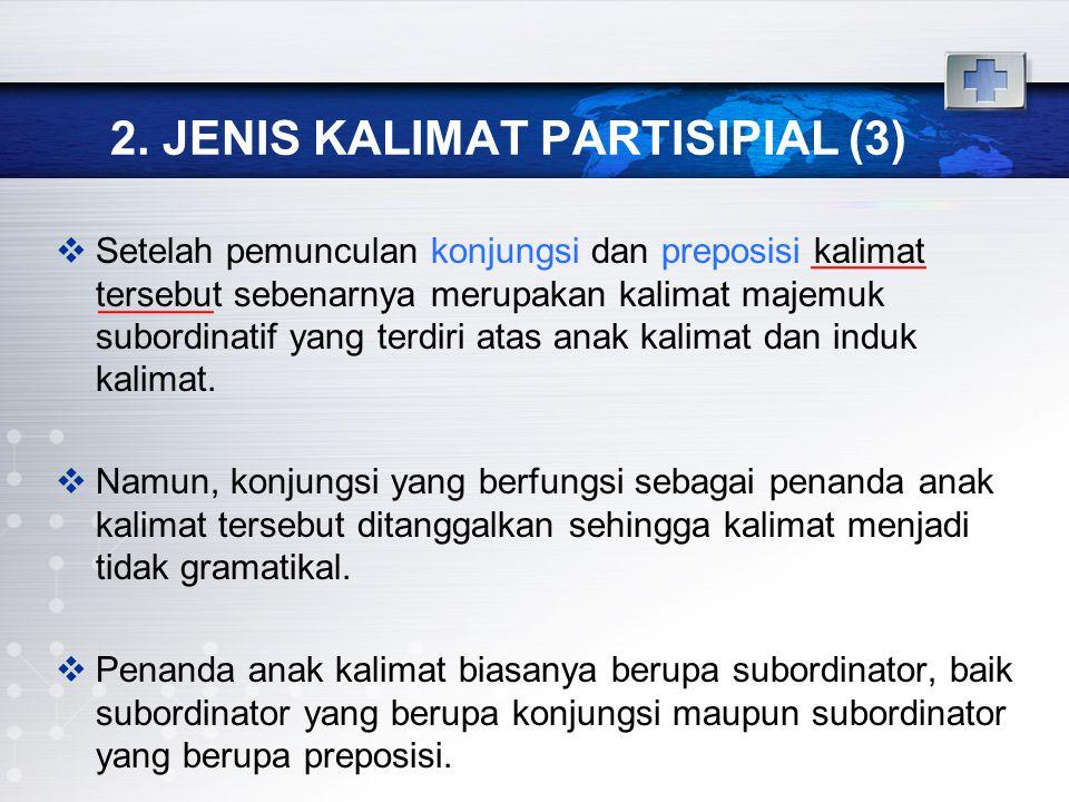 2. JENIS KALIMAT PARTISIPIAL (3)