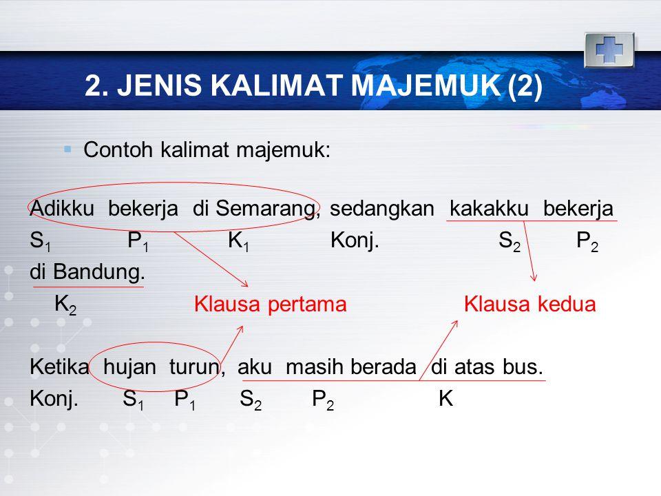 2. JENIS KALIMAT MAJEMUK (2)
