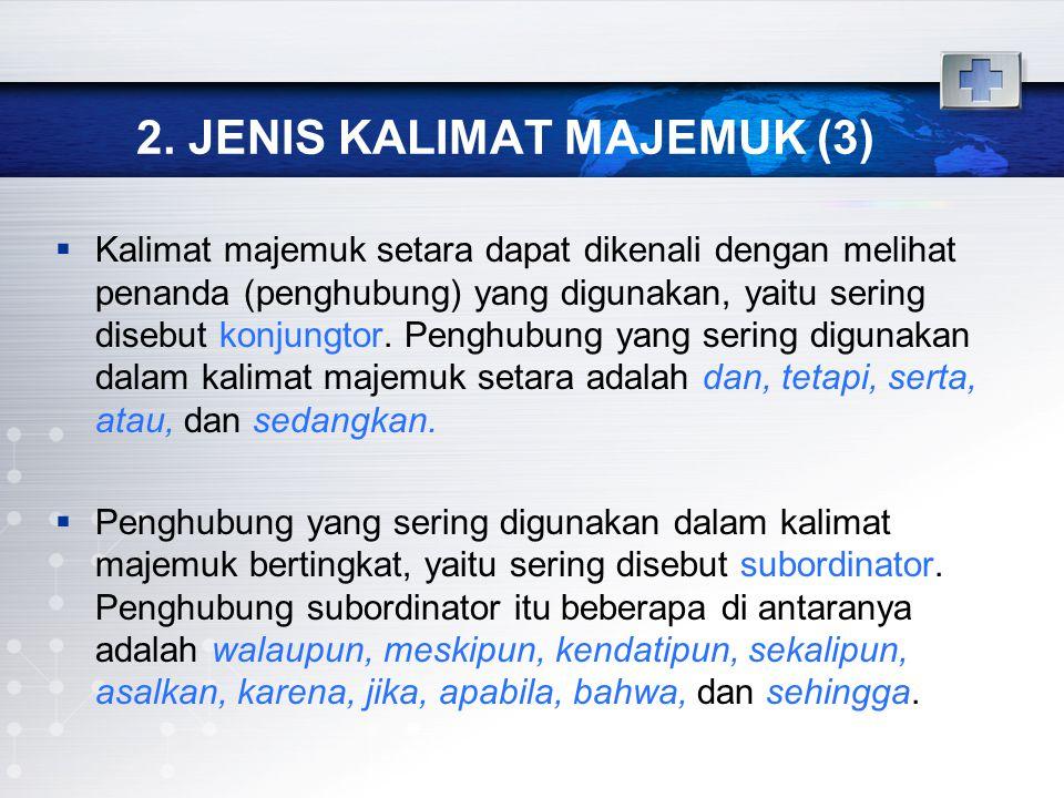 2. JENIS KALIMAT MAJEMUK (3)