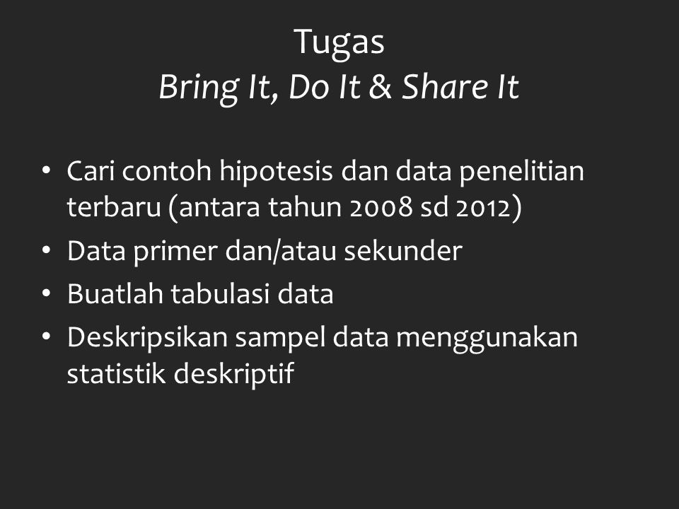 Tugas Bring It, Do It & Share It