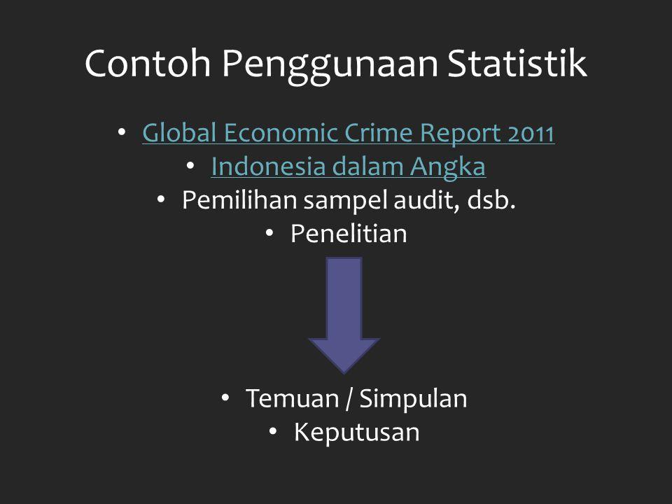 Contoh Penggunaan Statistik
