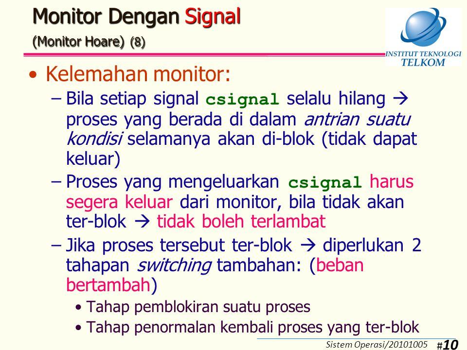 Monitor Dengan Signal (Monitor Hoare) (9)