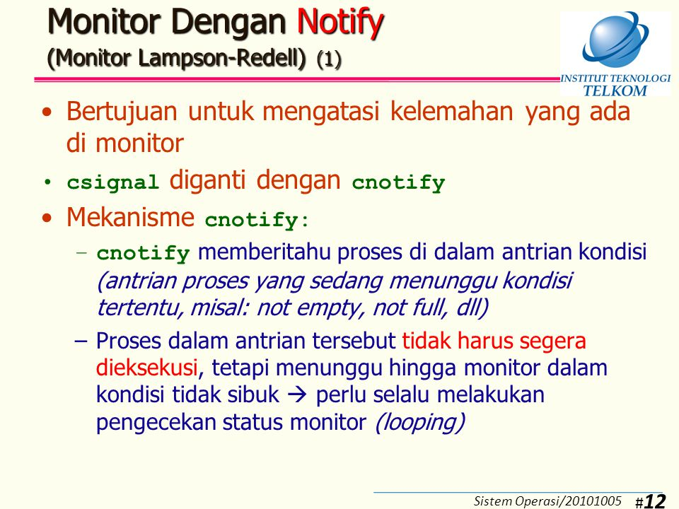 Monitor Dengan Notify (Monitor Lampson-Redell) (2)