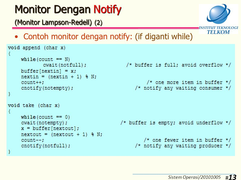 Monitor Dengan Notify (Monitor Lampson-Redell) (3)