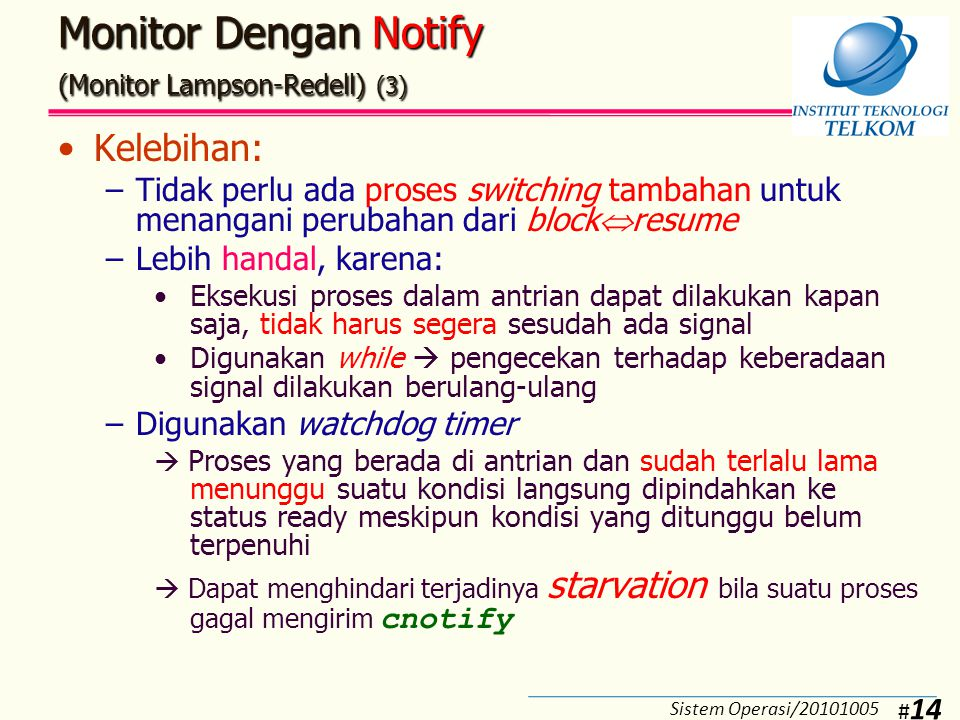 Monitor Dengan Broadcast (Monitor Lampson-Redell) (1)