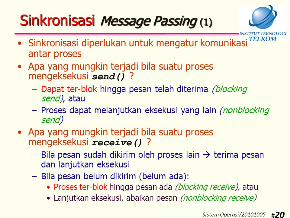 Sinkronisasi Message Passing (2)