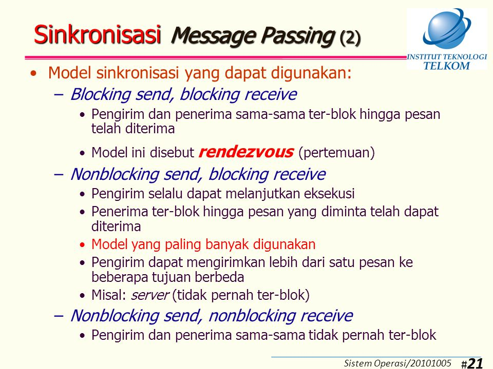 Sinkronisasi Message Passing (3)